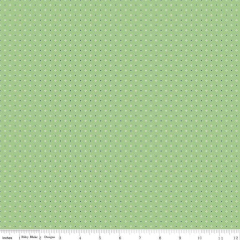 Farm Girl Vintage -Lori Holt - Calico - C7884-GREEN - Fabric is sold in 1/2 yard incremtns