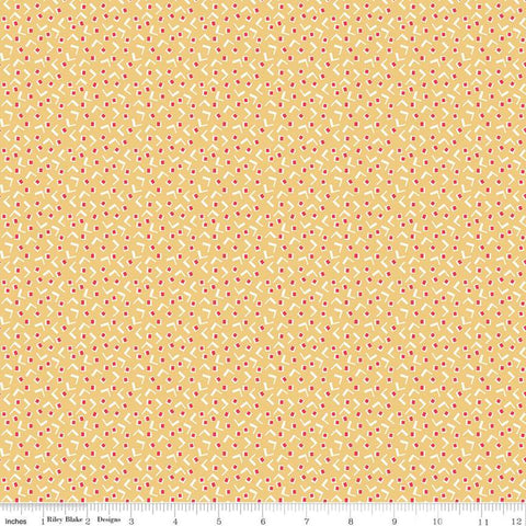 Vintage Happy 2 - Lori Holt - Tiny Squares - Honey - C9132-Honey - Fabric is sold in 1/2 yard increments