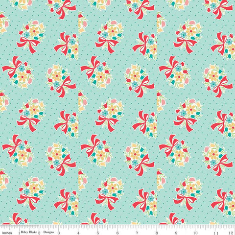Vintage Happy 2 - Lori Holt - Bouquet - Songbird - C9135-Songbird - Fabric is sold in 1/2 yard increments