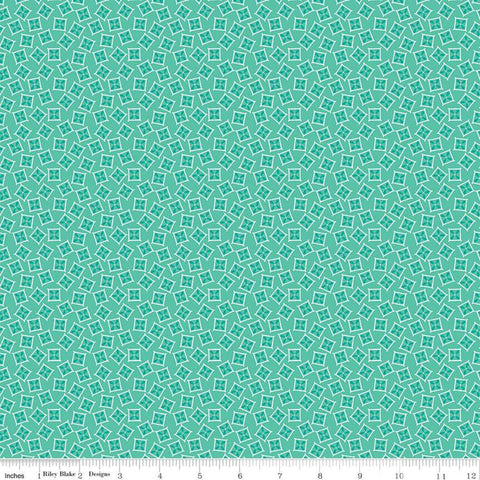 Vintage Happy 2 - Lori Holt - Planter Box - Sea Glass - C9139-Seaglass - Fabric is sold in 1/2 yard increments