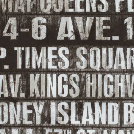 Eclectic Elements - Tim Holtz - Subway Signs - PWTH005.TAUPE