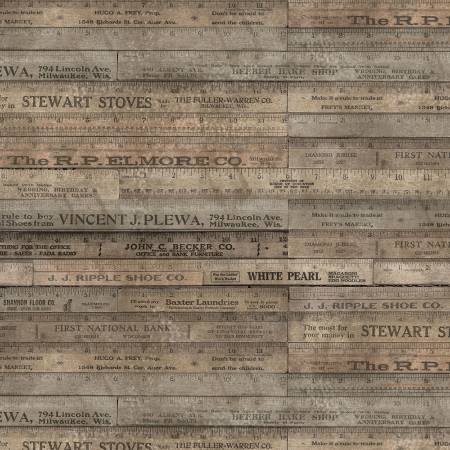 Eclectic Elements - Tim Holtz - Rulers - PWTH017.BROWN