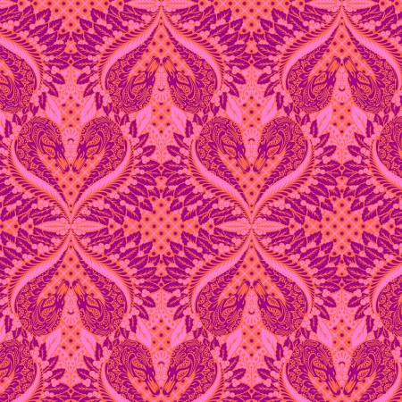 Pinkerville - Tula Pink - Gate Keeper - Cotton Candy - PWTP128-COTT - Fabric is sold in 1/2 yard increments