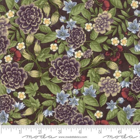 Fresh Off The Vine - Holly Taylor - Floral - Brown - 6761-17 - Fabric is sold in 1/2 yard increments