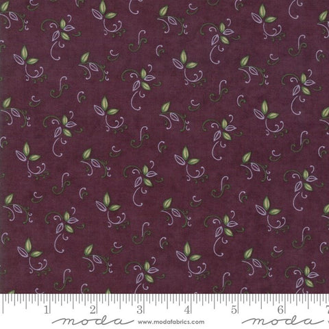 Fresh Off The Vine - Holly Taylor - Bouquet - Eggplant - 6765-12 - Fabric is sold in 1/2 yard increments