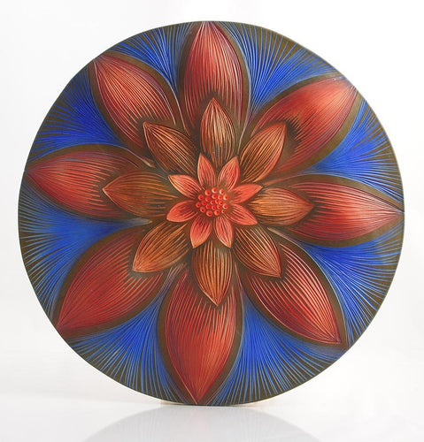 Red Zinnia Sky Mandala product_type Natalie Blake Studio Shop