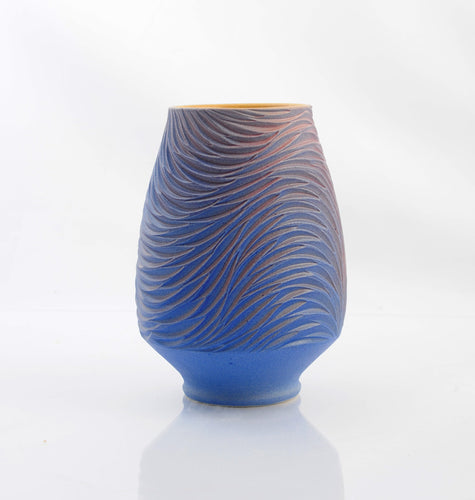 Feather Rain Open Vessel, Amethyst and Mauve product_type Natalie Blake Studio Shop