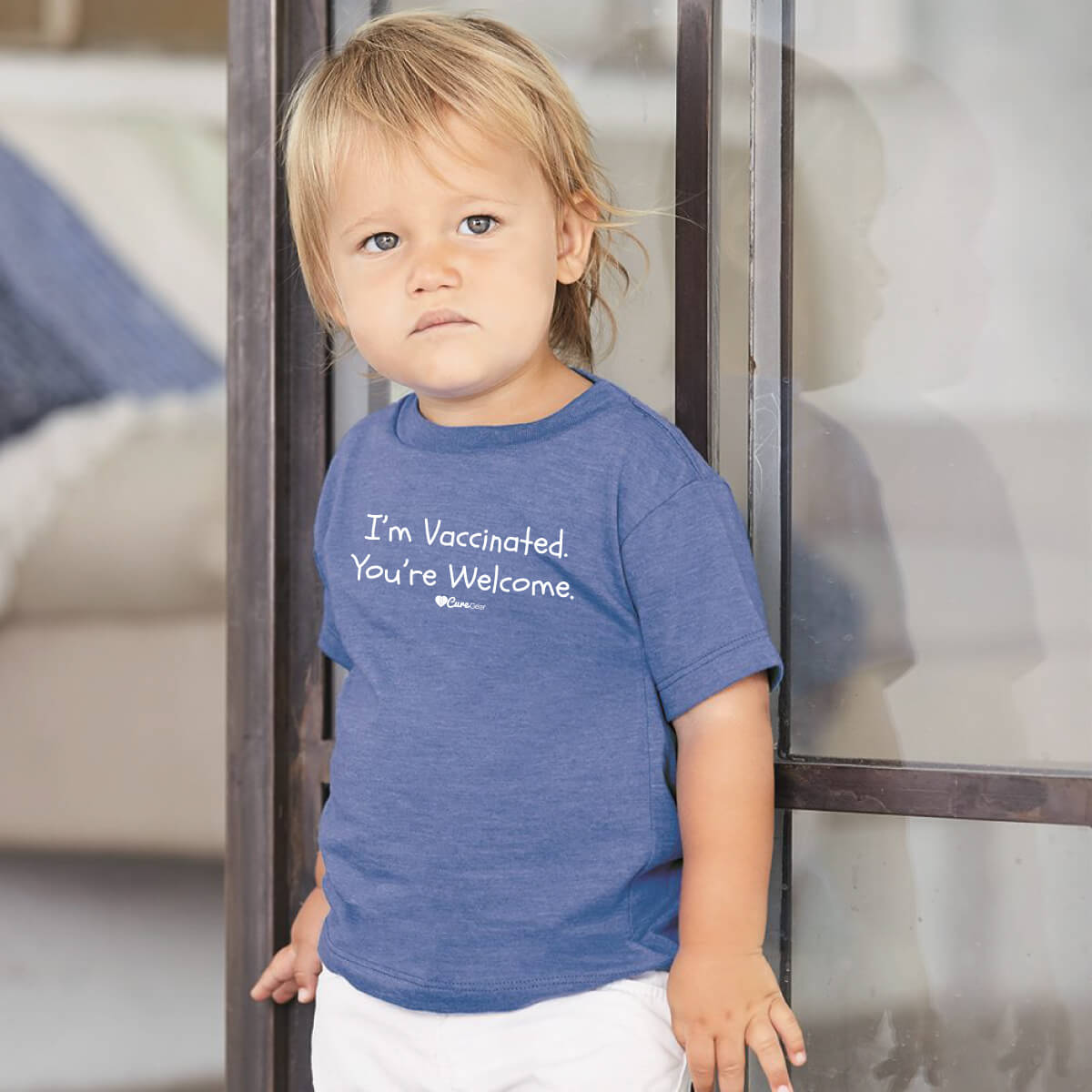 """I'm Vaccinated. You're Welcome."" Toddler/ Youth Unisex Tee"