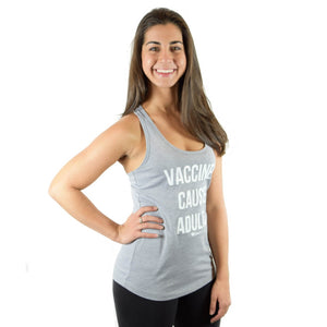 Vaccines Cause Adults Women's Racerback Tank