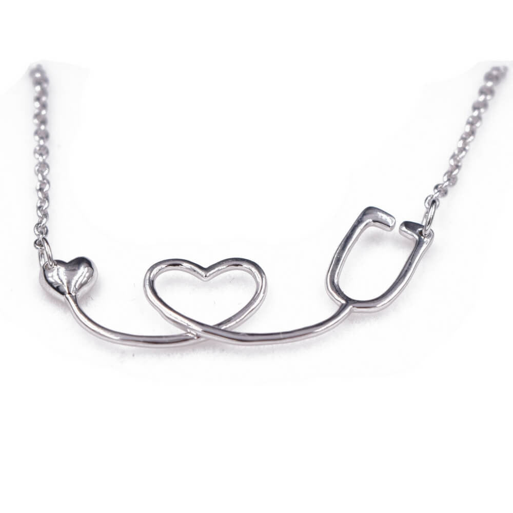 Sterling Silver Stethoscope Necklace