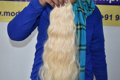 "08"" inch Blonde Wavy hair 1 bundle"