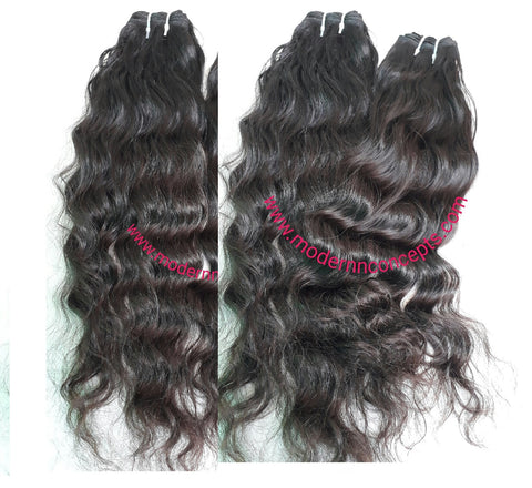 "24"" 26"" 28"" 30"" inches Wavy hair 4 bundles deal"