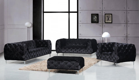 Velvet Sofa Set Mercer Collection Available in 4 Colors