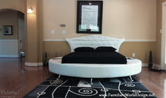 Modern Style Victoria Leather Round bed