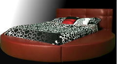 Modern MILAN Leather Round bed