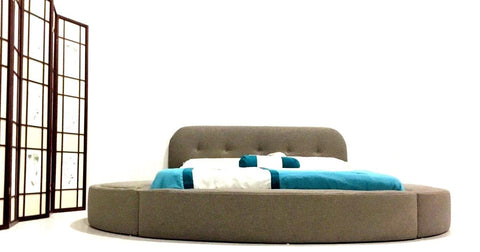 Modern Emaly upholstered Round Bed