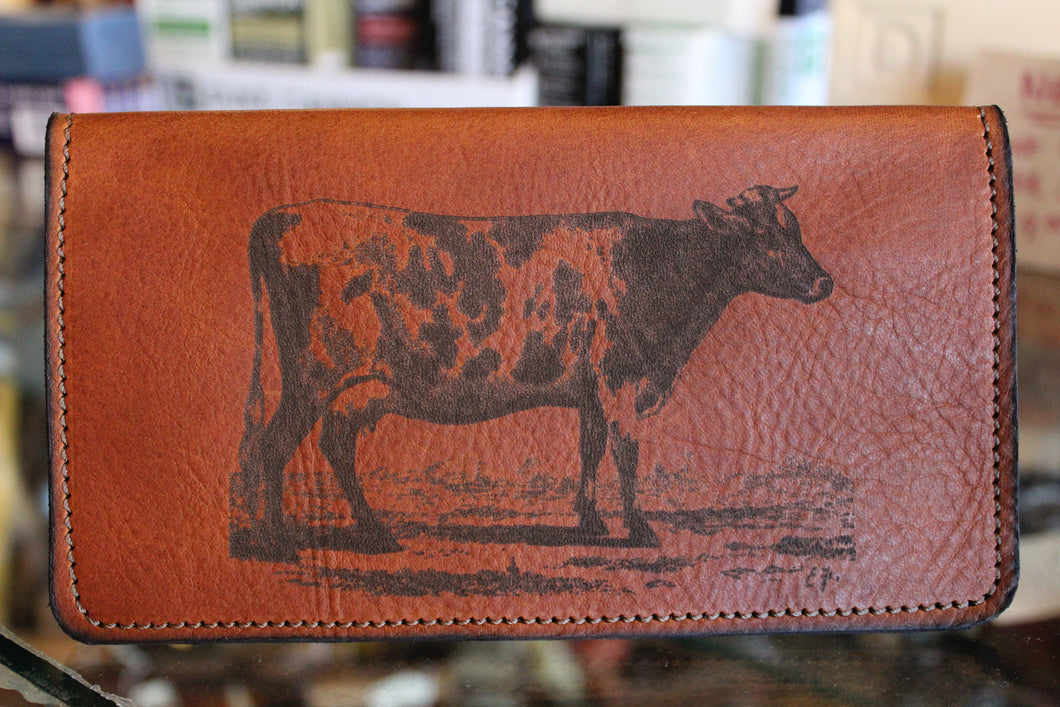 Cow Etched Roper Wallet