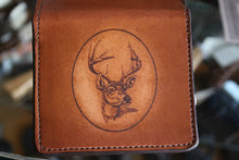 Oval Deer Etched Minimal Wallet