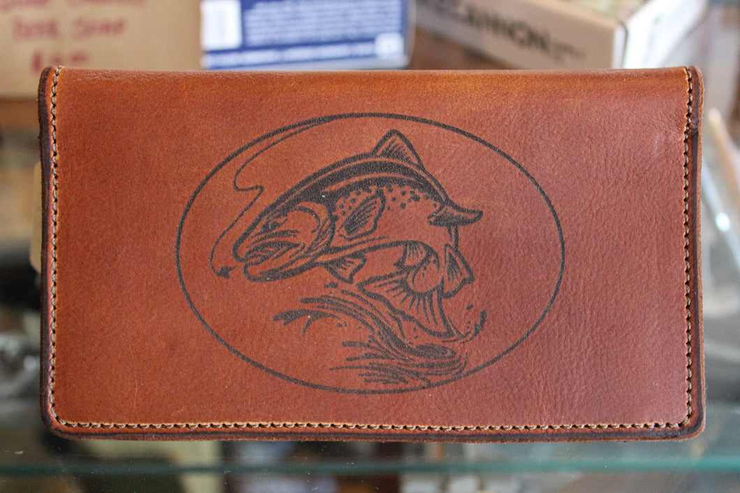 Trout Etched Roper Wallet
