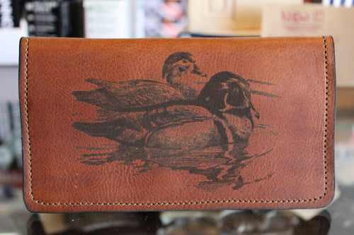 Duck Etched Roper Wallet