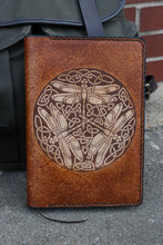 Celtic Dragonfly Leather Journal