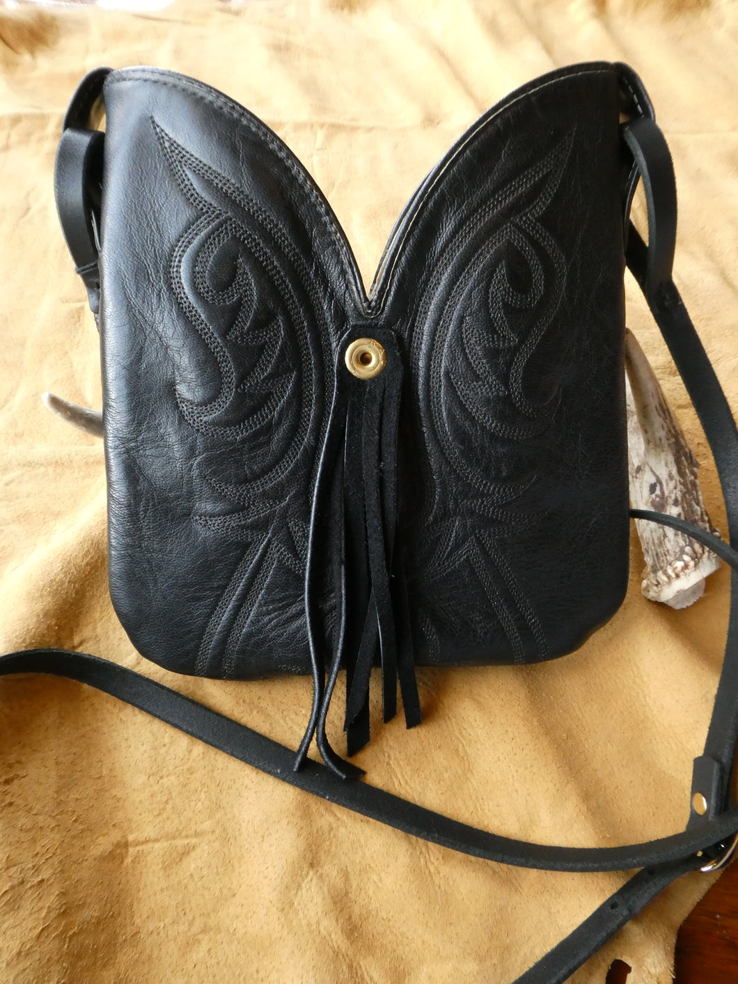 Black Boot Bag