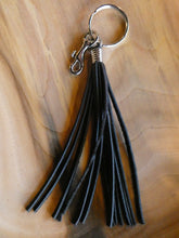Leather Tassels with Silver Hardware