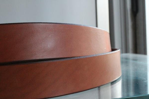 Bridle Leather Belt Golden Brown