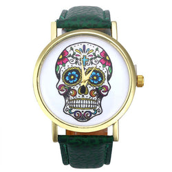 New for 2018 - Sugar Skull Watch with Leather Strap