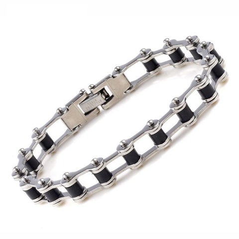 Stainless Steel Motorcycle Chain Bracelet