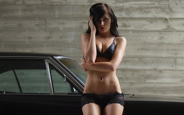 Muscle Car Dodge Charger R/T Sexy Girl Poster