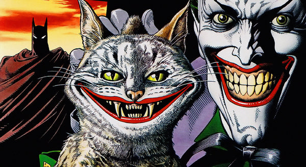Batman Cat Joker Comics Poster