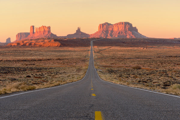 Monument Valley Rocks Desert Road Landscape Poster