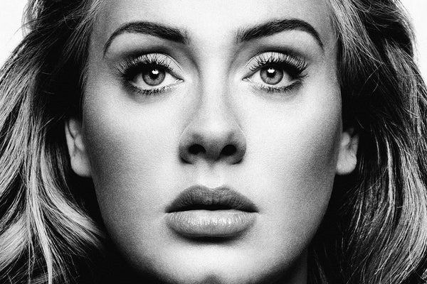 Adele Face Black and White Poster
