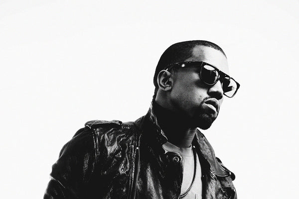 Kanye West Hip-Hop Rapper Black and White Print Poster