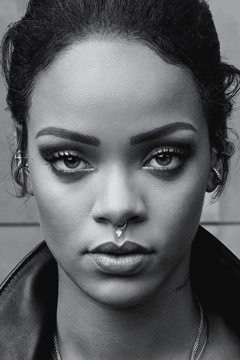 Rihanna Face Black and White Poster | Uncle Poster
