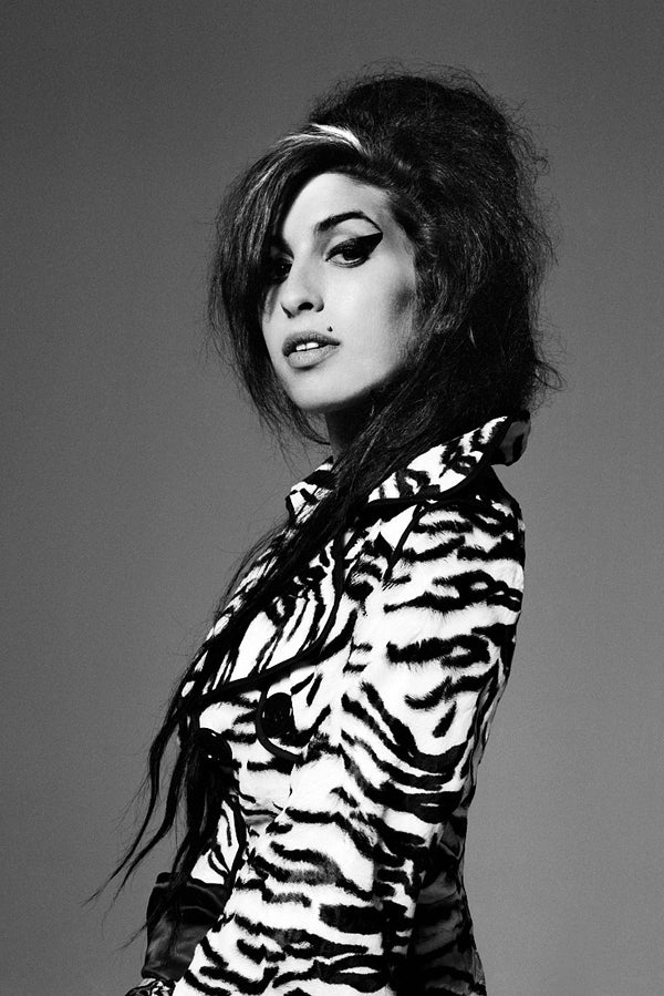 Amy Winehouse Black and White Poster