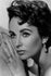 Elizabeth Taylor Black and White Poster