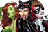 Poison Ivy, Catwoman, and Harley Quinn Art Poster