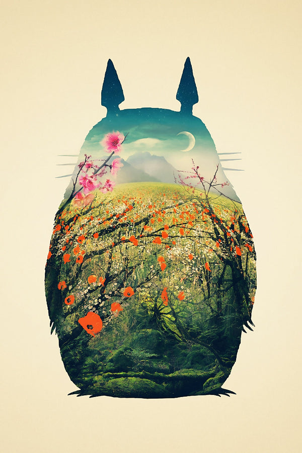 My Neighbor Totoro Anime Poster