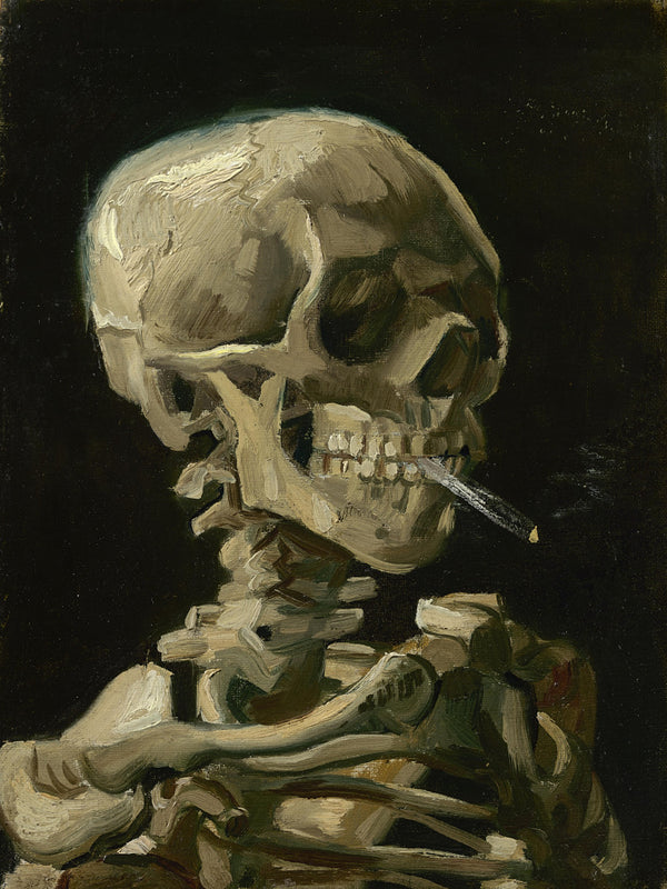 Van Gogh (Skull with Cigarette, 1885) Print Poster