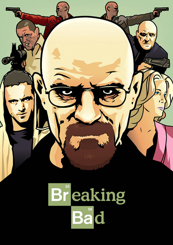Breaking Bad Fan Art Poster 24x34 inches