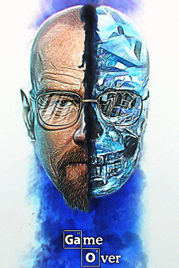 Breaking Bad Game Over Art Poster