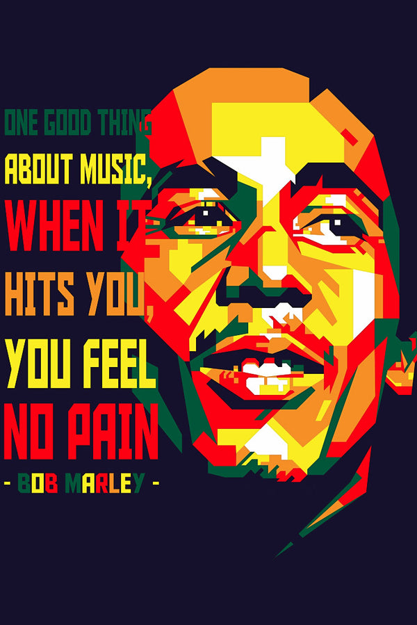 Bob Marley Quote Motivation Fan ART Print Poster