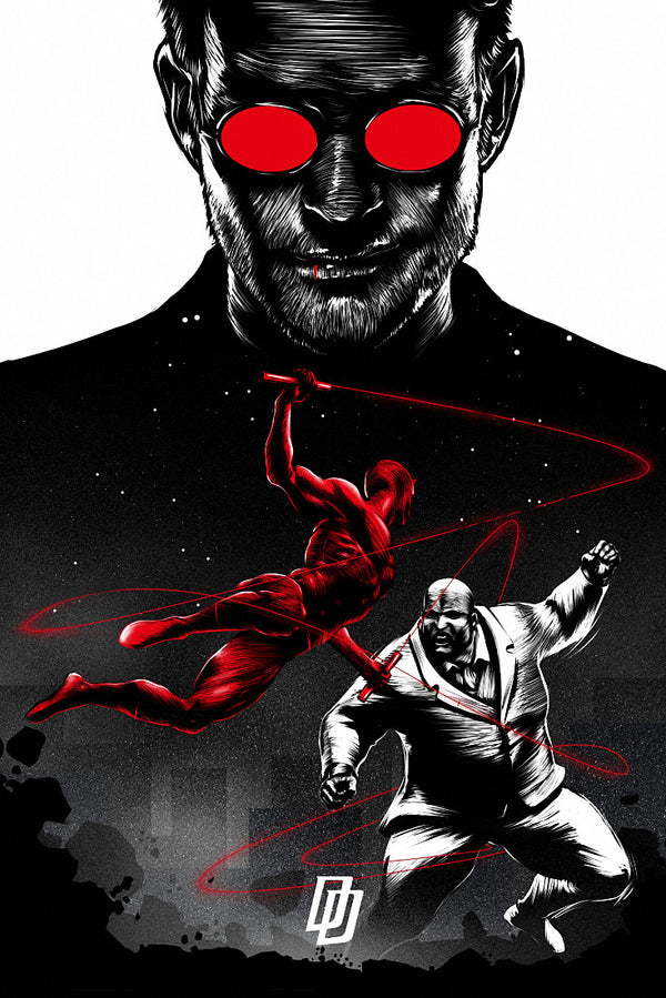 Daredevil and Kingpin Fan ART Print Poster