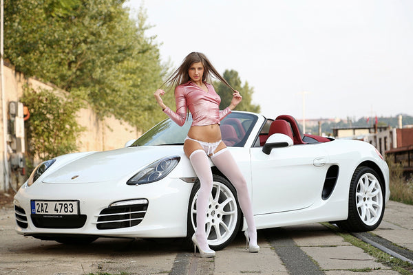 Porsche Boxer Sexy Hot Model pose Poster