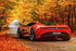 Red Aston Martin One 77 Cars Poster