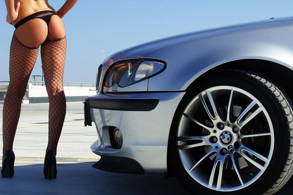 Sexy Legs Booty Girl Car BMW Poster