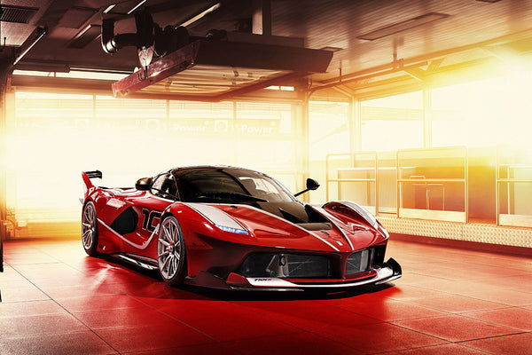 Ferrari FXX K Super Car Poster