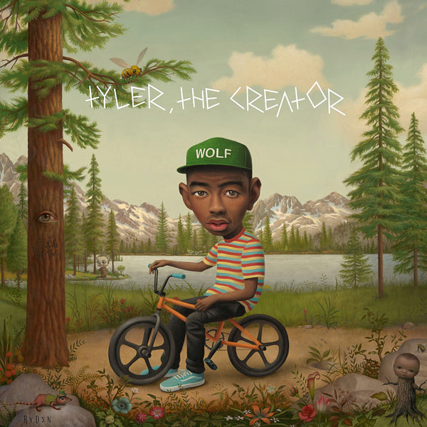 Tyler the Creator Music Rapper Wolf on a Bicycle Art Poster